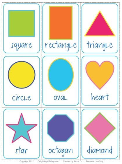 Free Shape Flashcards Download And Printable Delighting