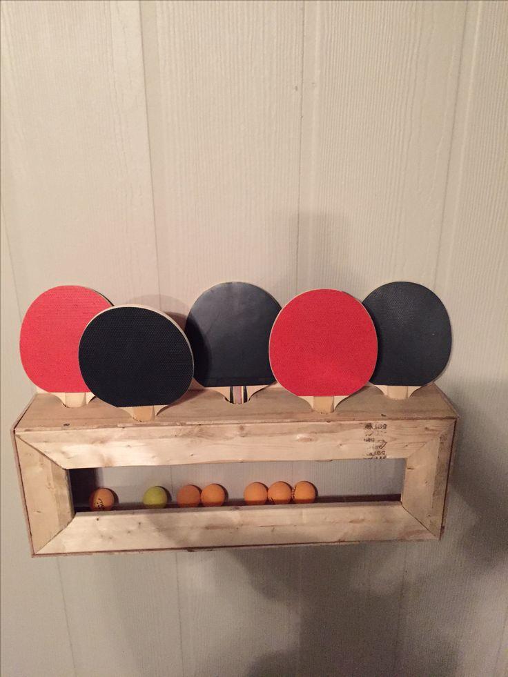 Diy Ping Pong Paddle And Ball Holder Ping Pong Paddle
