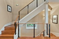 Modern cable stair rail design   House   Pinterest   Cable ...