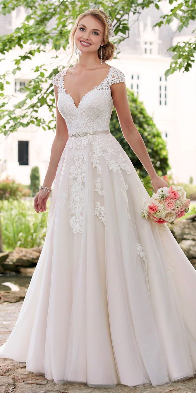 romantic wedding dresses christmas wedding dresses Stella York Spring Wedding Dresses