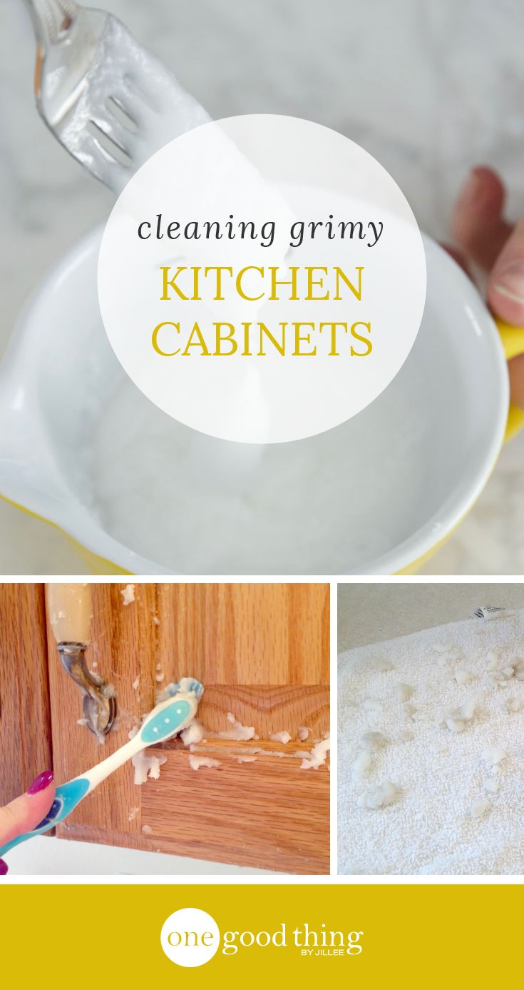 cleaning kitchen cabinets cleaning kitchen cabinets How To Clean Grimy Kitchen Cabinets With 2 Ingredients