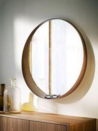 STOCKHOLM Mirror Walnut veneer 80 cm   Mirror with shelf ...