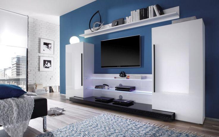 Wohnzimmer weis blau  Wohnzimmer-weis-blau-72. ecksofa leder design perfekte ideen für ...