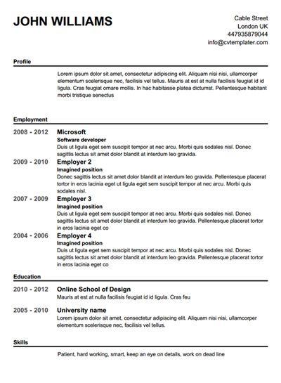 Resume Maker Template Free Resume Builder Resume Builder Resume - resume generator online