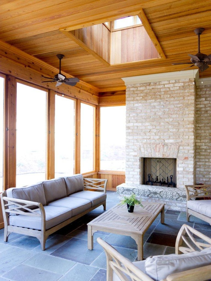 Four Seasons Room With Removable Panels Cedar With Blue