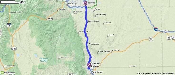 Ikea Colorado Springs Driving Directions From Colorado Springs, Colorado To 9800