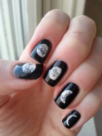 Phases of the moon. Hand painted. | Nails | Pinterest ...