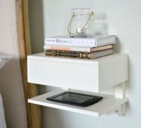 25+ Best Ideas about Wall Mounted Bedside Table on