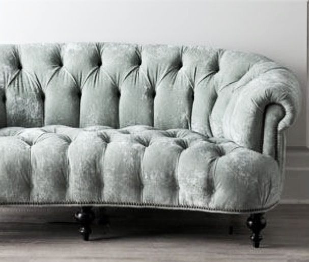 Chesterfield Sectional Sofa Tufted Seafoam Velvet Sofa | Sittin' Pretty | Pinterest