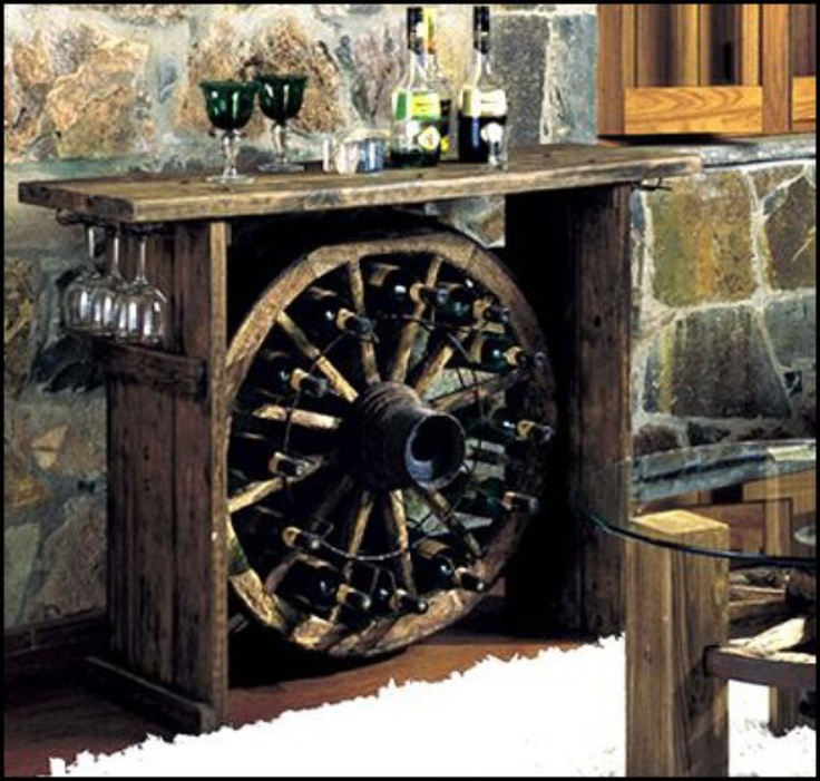 Ladentheke Selber Bauen Love This Wagon Wheel Wine Rack~ Love It. | Living The