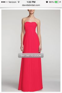 David's bridal color: punch. Love this color | Wedding ...