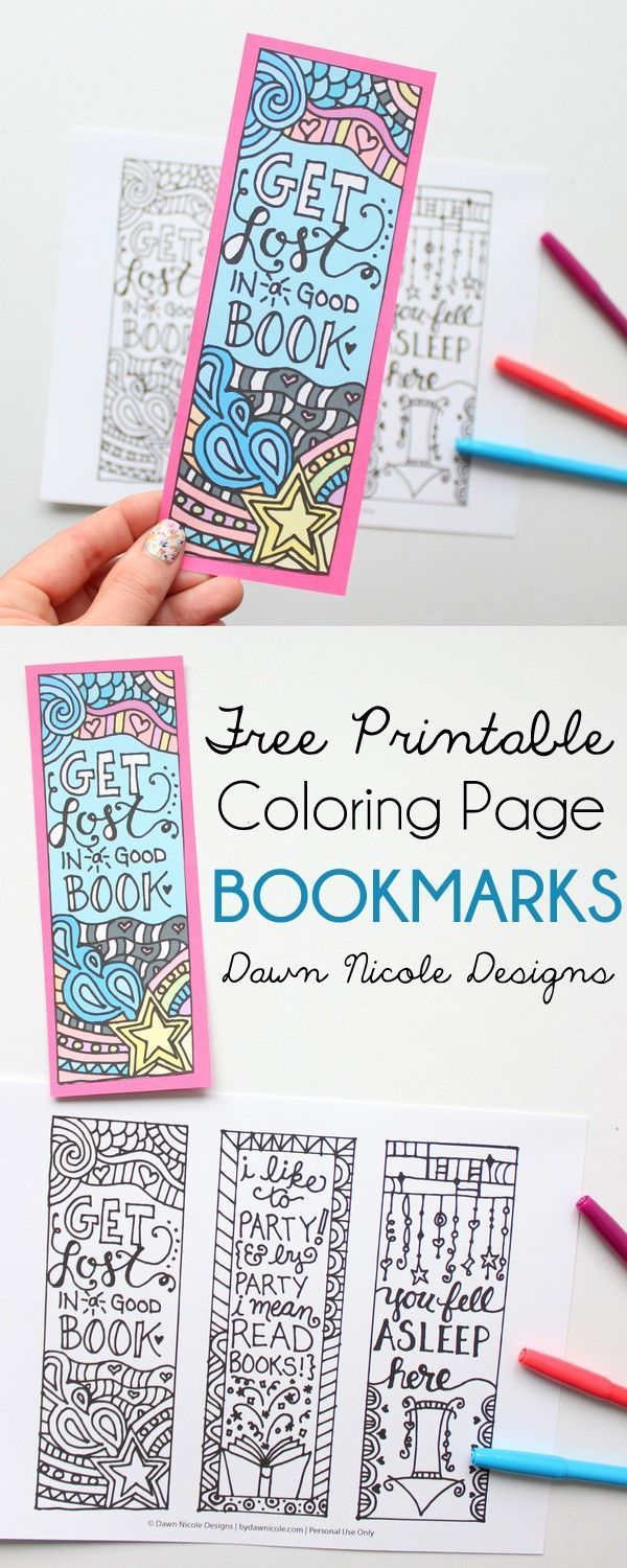 Free coloring pages library - Free Coloring Page Library Free Printable Coloring Page Bookmarks Download