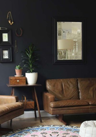 17 Best ideas about Black Living Rooms on Pinterest | Black white curtains, Cute living room and ...