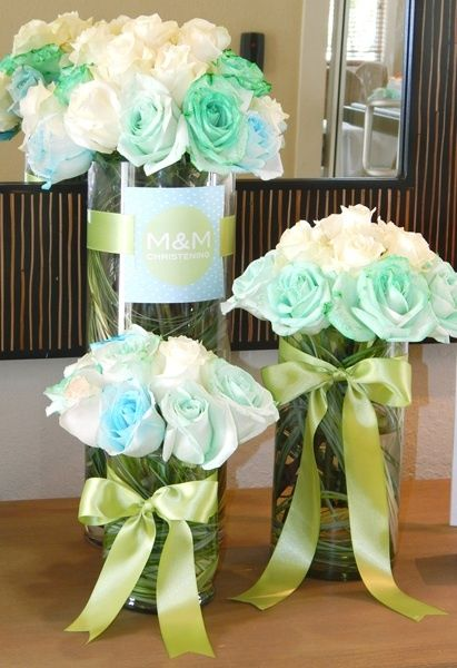 Sweet Baby Girl And Boy Wallpaper Modern Baptism Party Ideas Floral Arrangements The
