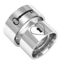 My heart key matching couple ring silver band rings ...