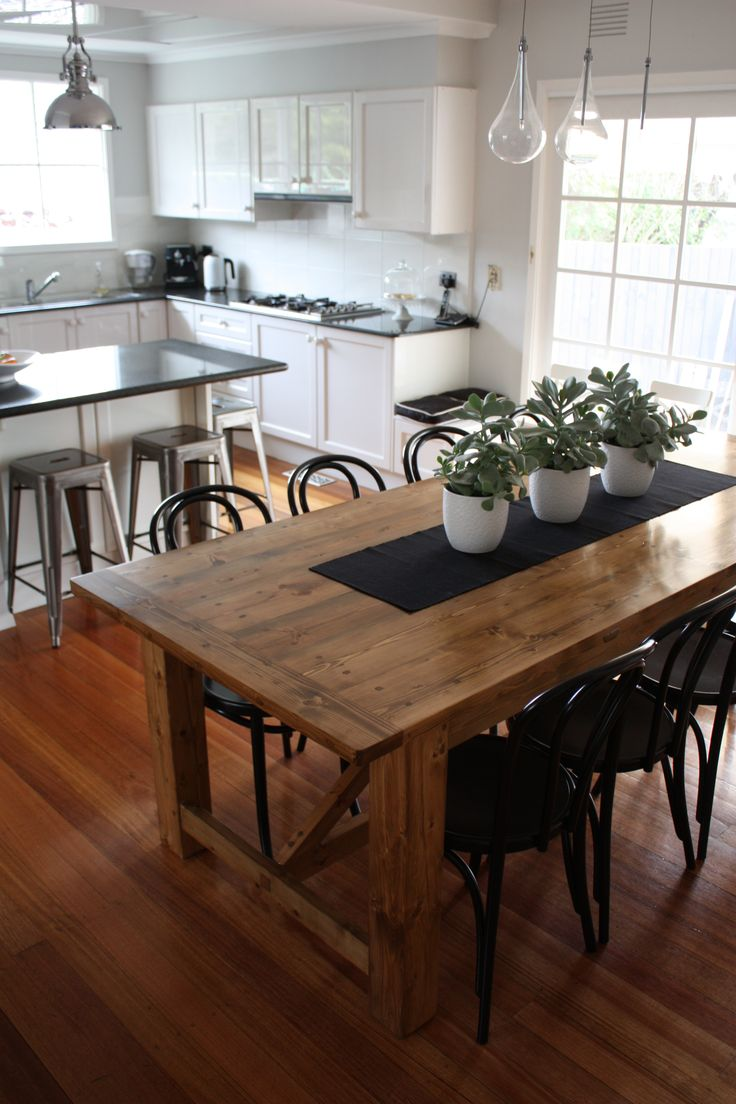 dining table runners the kitchen table Rustic Dining Table pairs with Bentwood Chairs