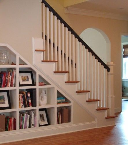 25 Best Ideas About Shelves Under Stairs On Pinterest