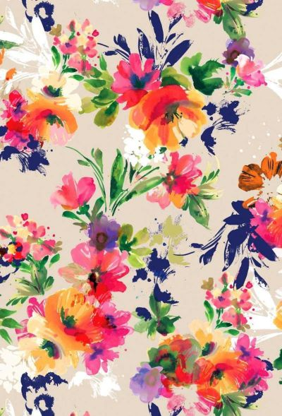 Bright floral print. #colour #style | iPhone wallpapers | Pinterest | Style, Inspiration and Colour
