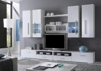 Echo Modern contemporary wall unit entertainment center ...