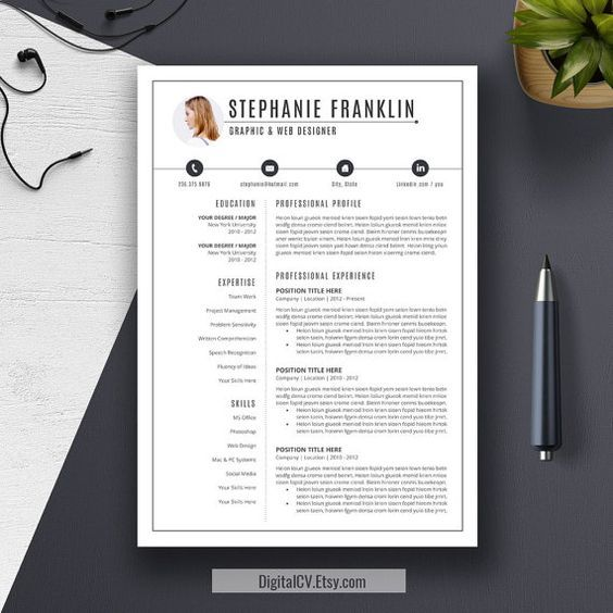 cv communication template gratuit