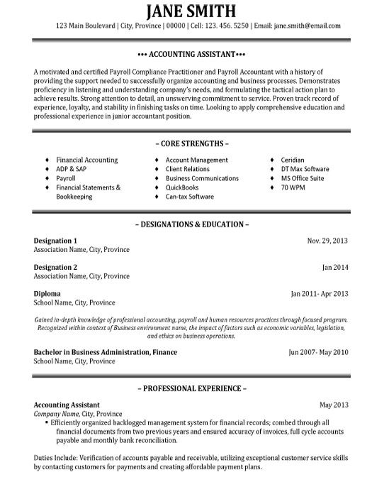 Resume Templates Accounting Assistant | Resume Maker: Create