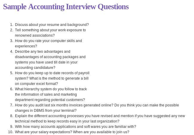 interview questions regarding resume