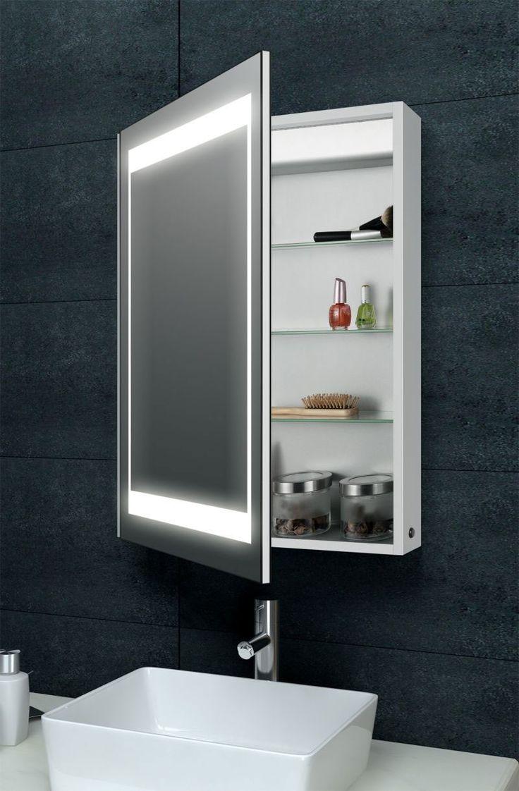 Laura aluminium backlit mirrored bathroom cabinet