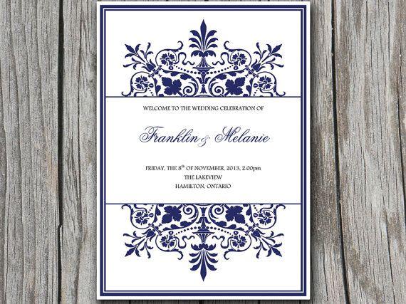 avery wedding program