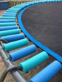 Pool noodles to cover trampoline springs | Outside ...