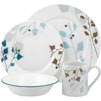 Corelle Impressions 16-Piece Dinnerware Set, Leaves
