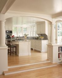 Open Kitchen into Living Room Concepts with pillars to ...