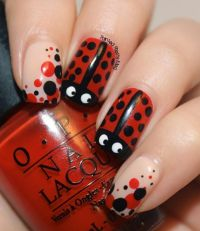 25+ Best Ideas about Ladybug Nails on Pinterest
