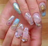 Aquarium nails | Square & Coffin Nails | Pinterest | Nails ...