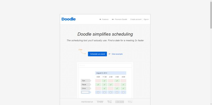simple scheduling tool