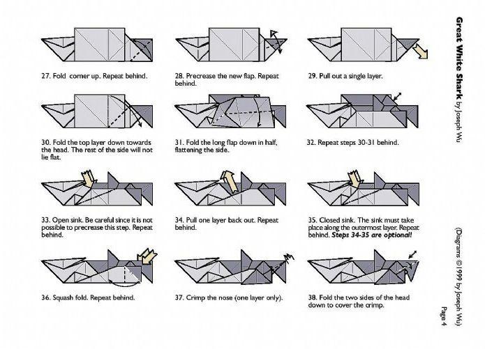 origami demon diagram