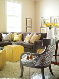 25+ great ideas about Yellow living room furniture on ...