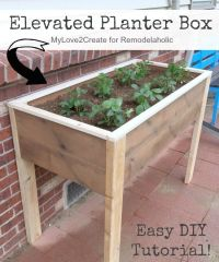 25+ best ideas about Elevated planter box on Pinterest ...