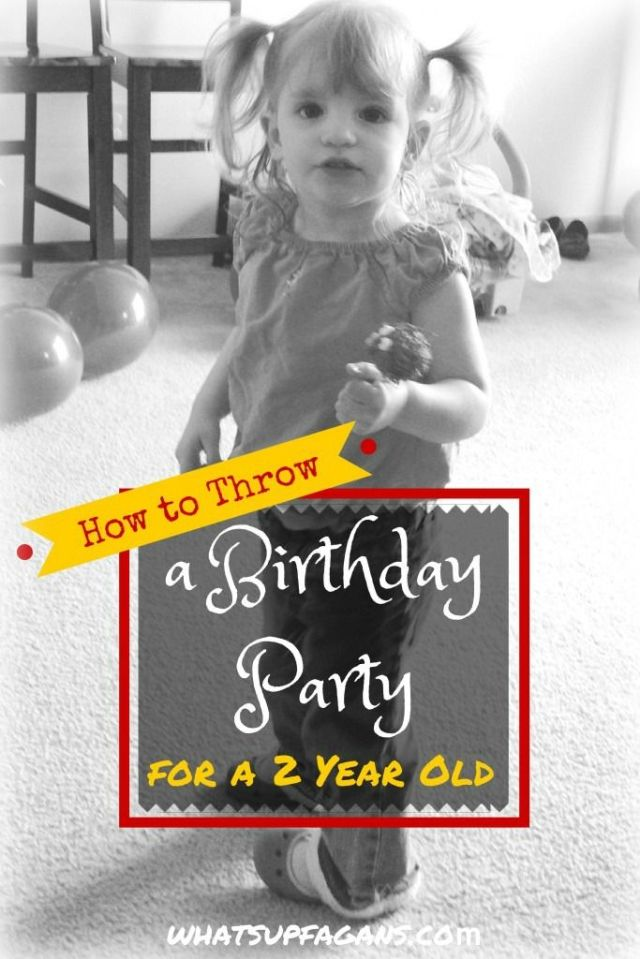 Some very helpful tips on how to plan a birthday party for a 2 year old. Very helpful! | whatsupfagans.com: