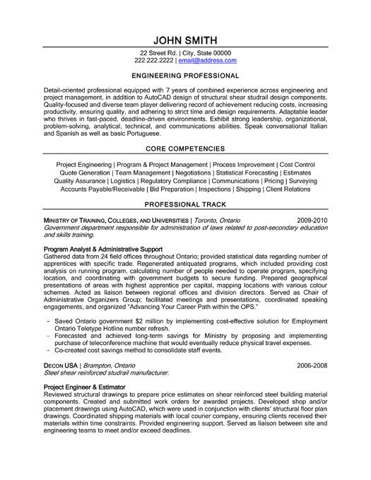 free resume builder for engineering