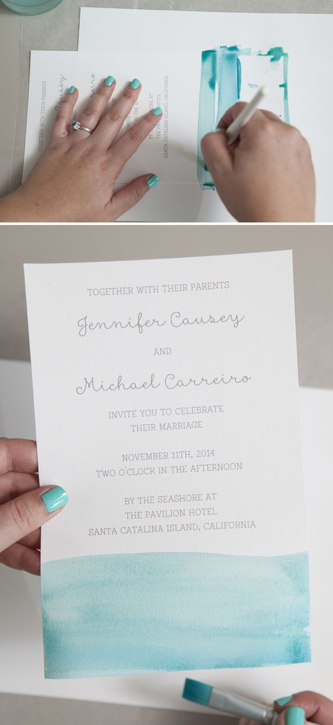 reception only invitations reception only wedding invitations How to watercolor your wedding invitations