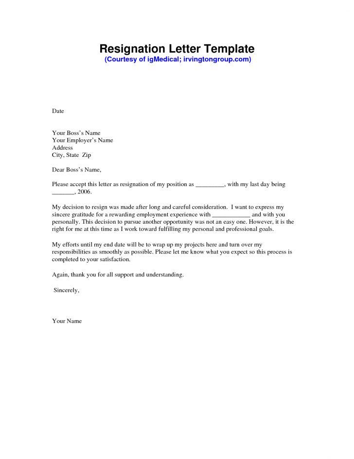 quitting letter sample