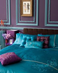 Purple and Teal Bedroom | Guest Room/Office | Pinterest ...