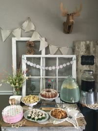 Rustic, neutral, boho chic baby shower | Portfolio  DIY ...