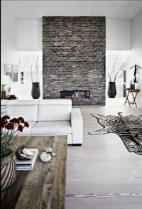 Love the Brick Feature Wall focal point for this scheme