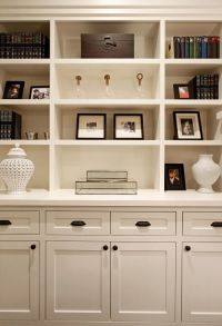 family room bookshelf with built in cabinets | bookshelf ...