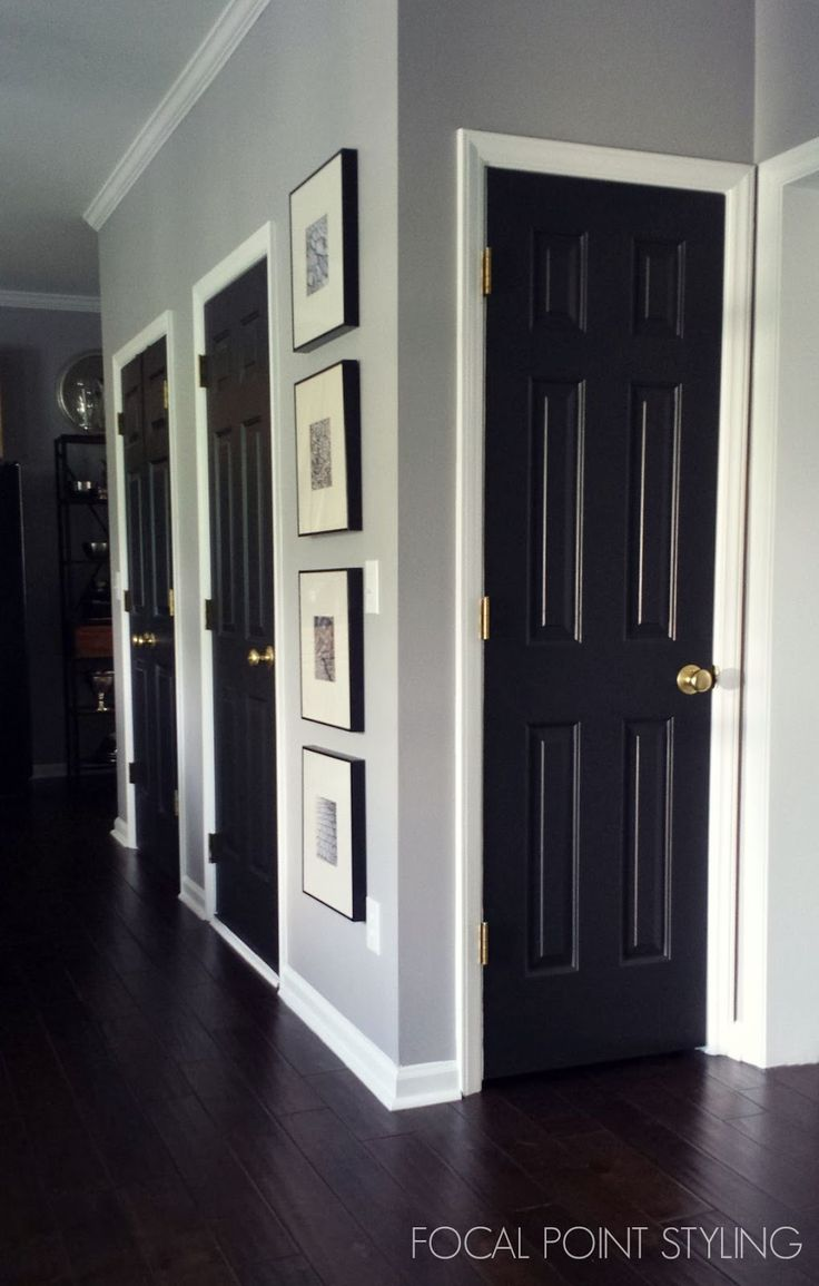 Find this pin and more on white trim black doors