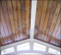 stained car siding on ceiling | For the Home | Pinterest