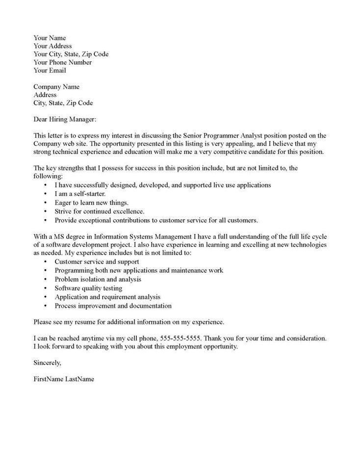Formal application letter for teacher