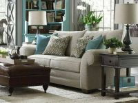 Neutral living room with light blue accents | Living Room ...