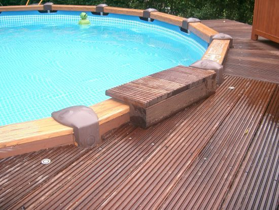 Sprungbrett Pool Selber Bauen 64 Best Images About Intex Pool Deck On Pinterest | On